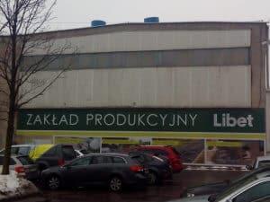 Widok na halę produkcyjną Libet w Łodzi.